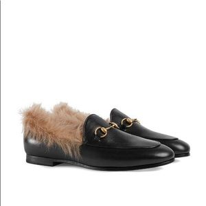 Gucci Princetown Jordaan Fur Loafer Black 40